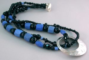 Raven Sky Copan Blue Russians Necklace