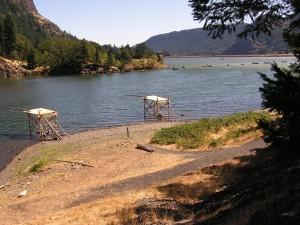 Platforms on Little White Salmon River