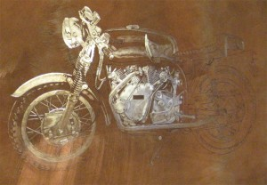 Plate For Mezzotint 'Norvin' 35cm x 25cm