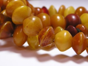 Opaque Amber Beads approx. 1 inch in diameter