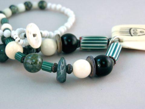 Trade Bead Necklace Closer Look