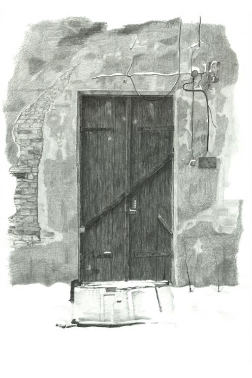 door pencil drawing front door black door drawing pencil drawings active artist network
