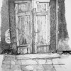 Grey Door Drawing